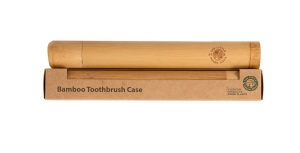 Eco-Friendly Bamboo Toothbrush Case, Strong Bamboo Protective Case Ideal for Travelling from The Little Green Orca