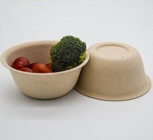 Eco-Friendly Disposable Microwavable Bamboo Extra Strong Fibre Bowl 500ml / 17oz - 20 Bowls